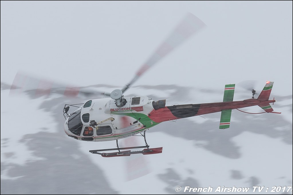 Eurocopter AS-350 B3e - F-HSBH , Blugeon Helicoptères , Fly Courchevel 2017 , Hélico 2017