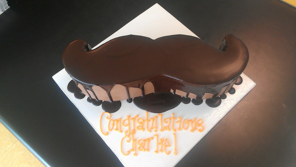Mustache Shaped Cake Custom Cakes Require At Least 14