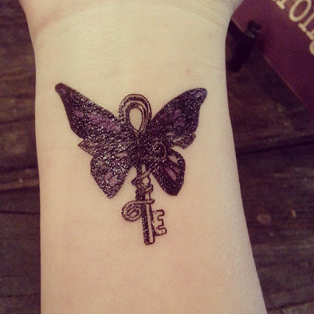 All Sizes My Temp Tattoo Butterfly Key Tattoo Temporary