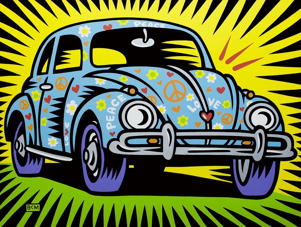 Free Car History Report >> Burton Morris - LoveBug | Poptastic! The Art of Burton ...