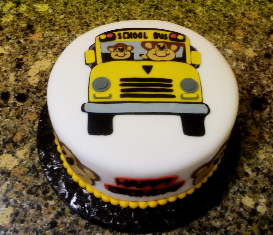 School Bus Cake By Yvonne Twin Cities Mn Birthdayca Flickr