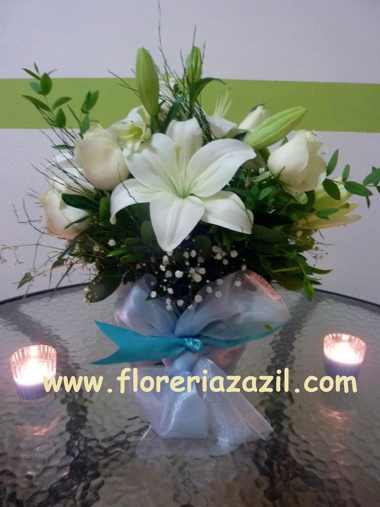 Centro de mesa para boda en cancun centro de mesa de - Centros de mesa con flores ...