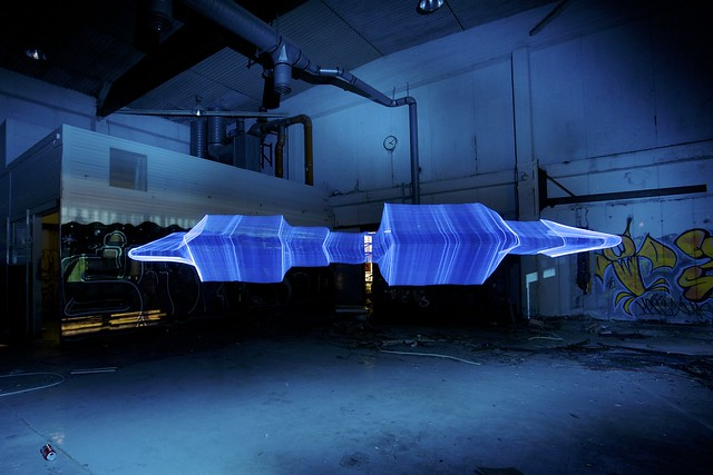 The levitating blue