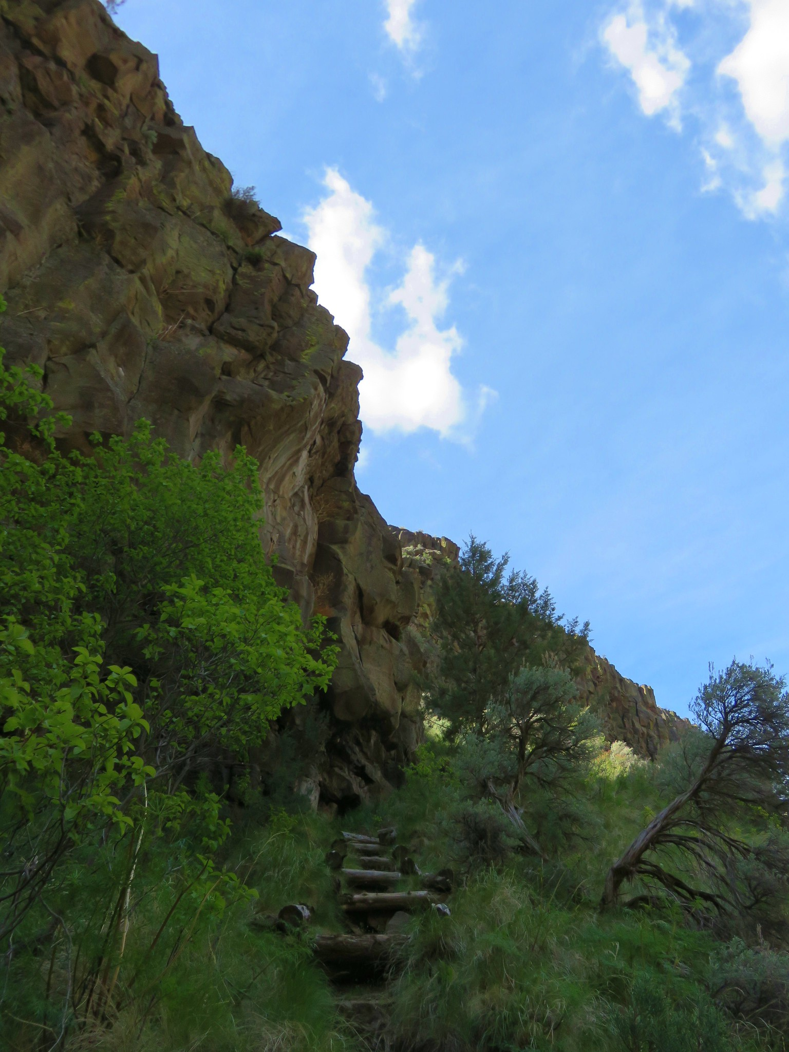 Steps leading away from the Crooked River