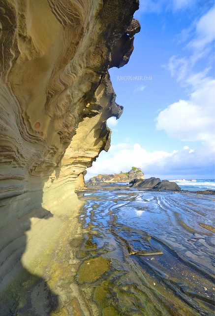 bel-at rock formation biri island