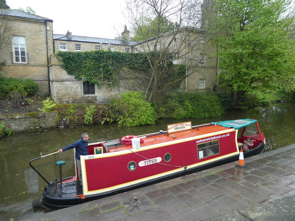 Canal boat, Saltaire