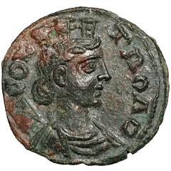 Roman Empire - Alexandria - Grazing Horse coin obverse
