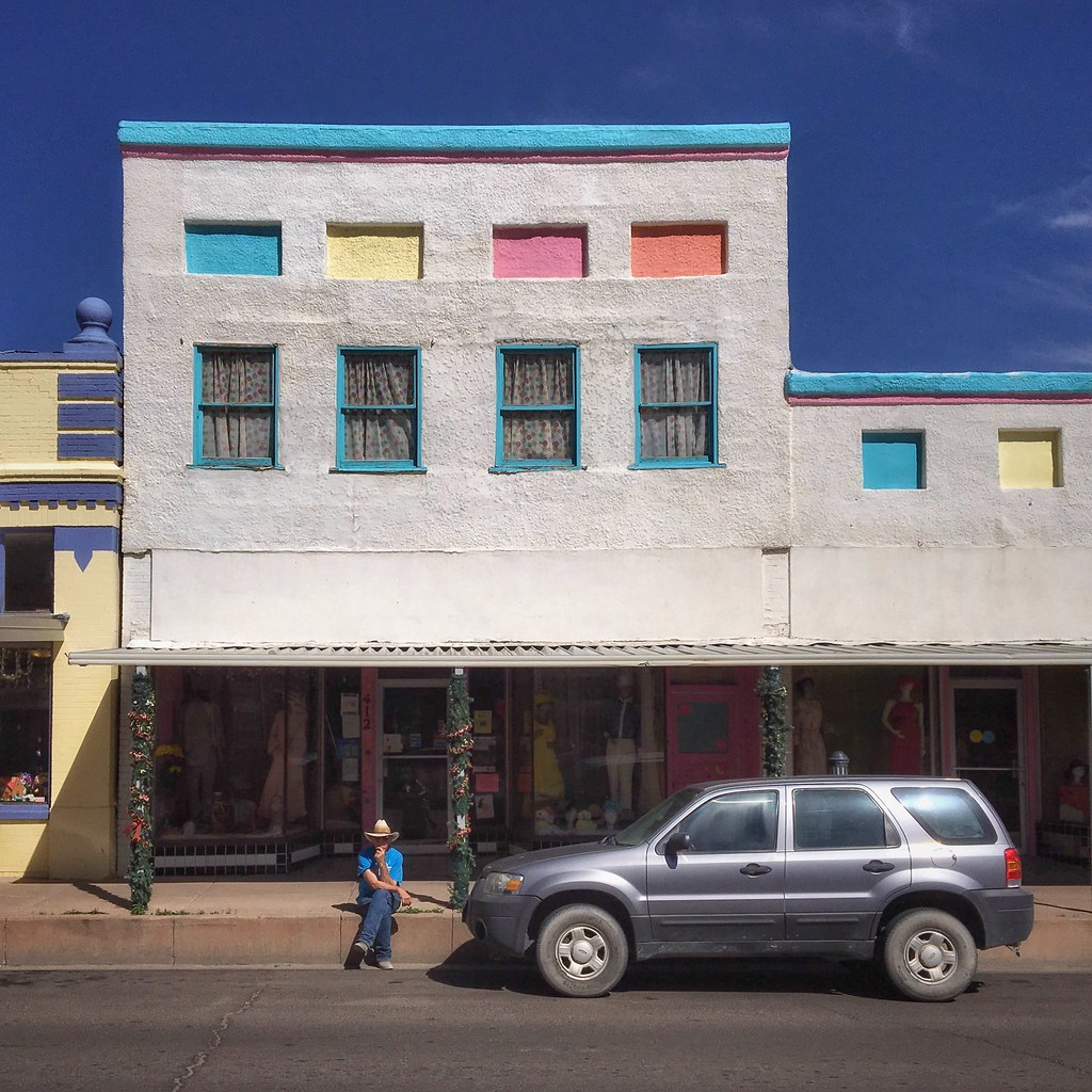 Waiting under pastels, Silver City, New Mexico...