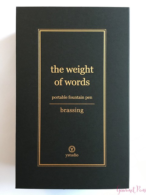 Review YStudio The Weight of Words Portable Fountain Pen - Brassing & Classic @AppelboomLaren 2