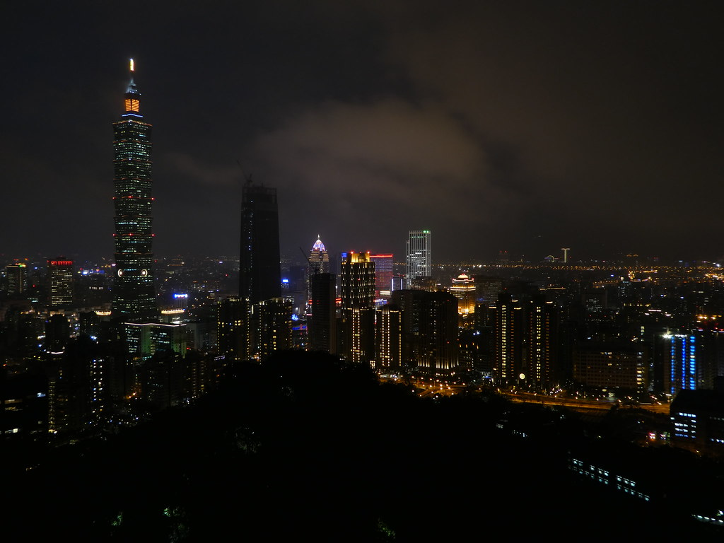 View of Taipei 101 from the top of Elephant Mountain