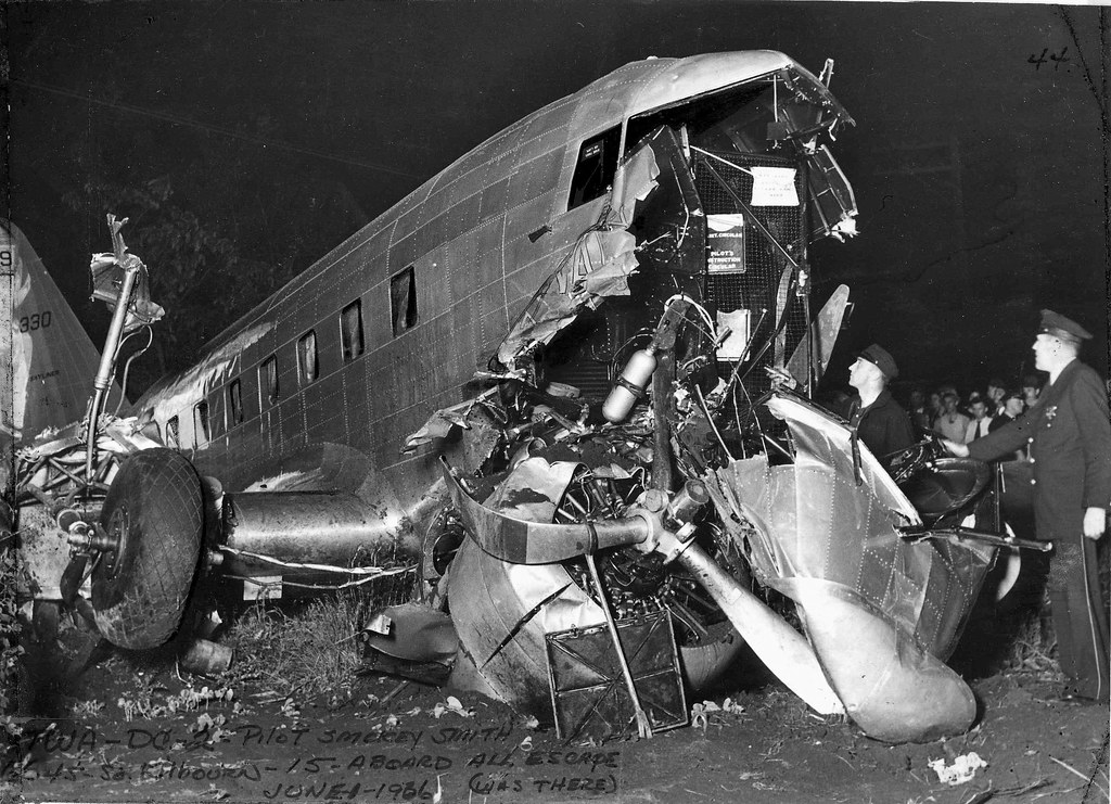 Chicago Municipal Airport Twa Dc 2 Crash 31may36