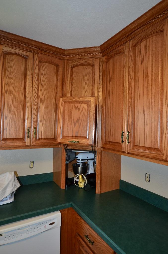 Kraftmaid Belmont Oak Roman Fawn 006 Appliance Garage