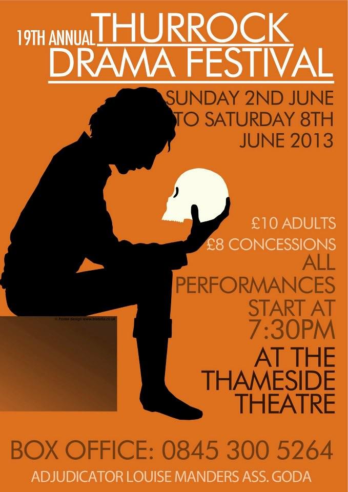 Poster Design For Thurrock Drama Festival 2013