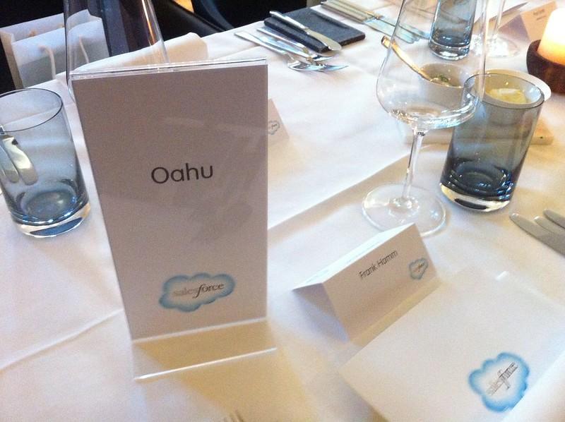 Oahu - Hawaiianische Namen für die Tische :-)