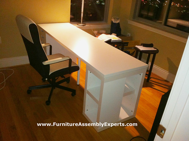Ikea study table assembly service in towson md flickr for Study table and chair ikea
