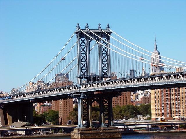 Manhattan Bridge Nova York Usa 23 De Setembro 2013