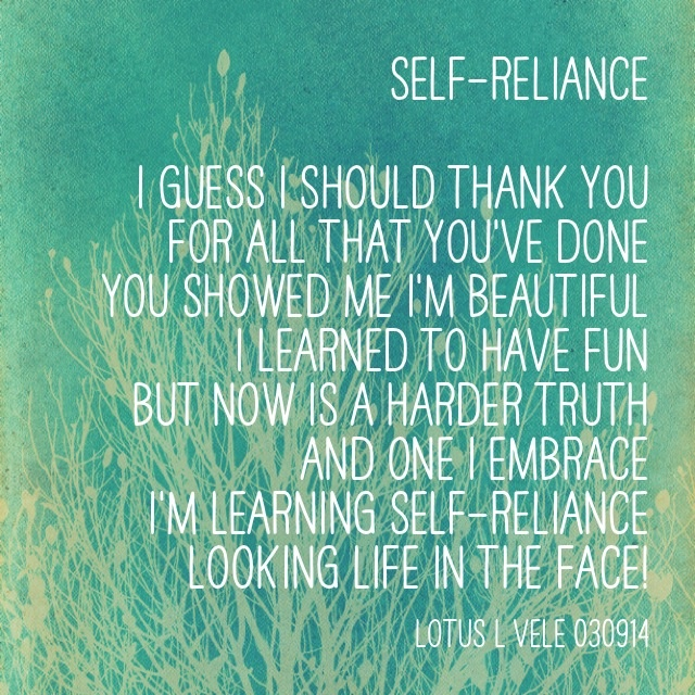 self reliance poem
