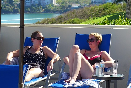 Florrie & Alissa lounge at the pool | by greggburch