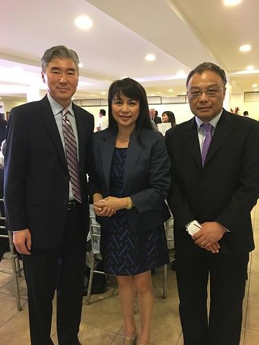 US Ambassador Sung Kim,  Annie Tan-Yee, Dr. Zhu Feng