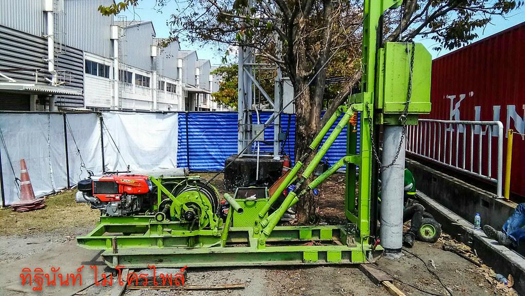 งานตอกเสาเข็มต่อเติมโรงงานประกอบรถยนต์โตโยต้า (เกตเวย์)