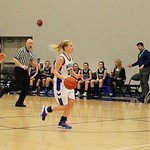 Makayla Hoey dribbling up court (photo submitted)