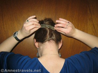 Clip & straighten the barrette to make a French Twist with Ponytail - 12 Hiking Hairstyles that are pretty & practical
