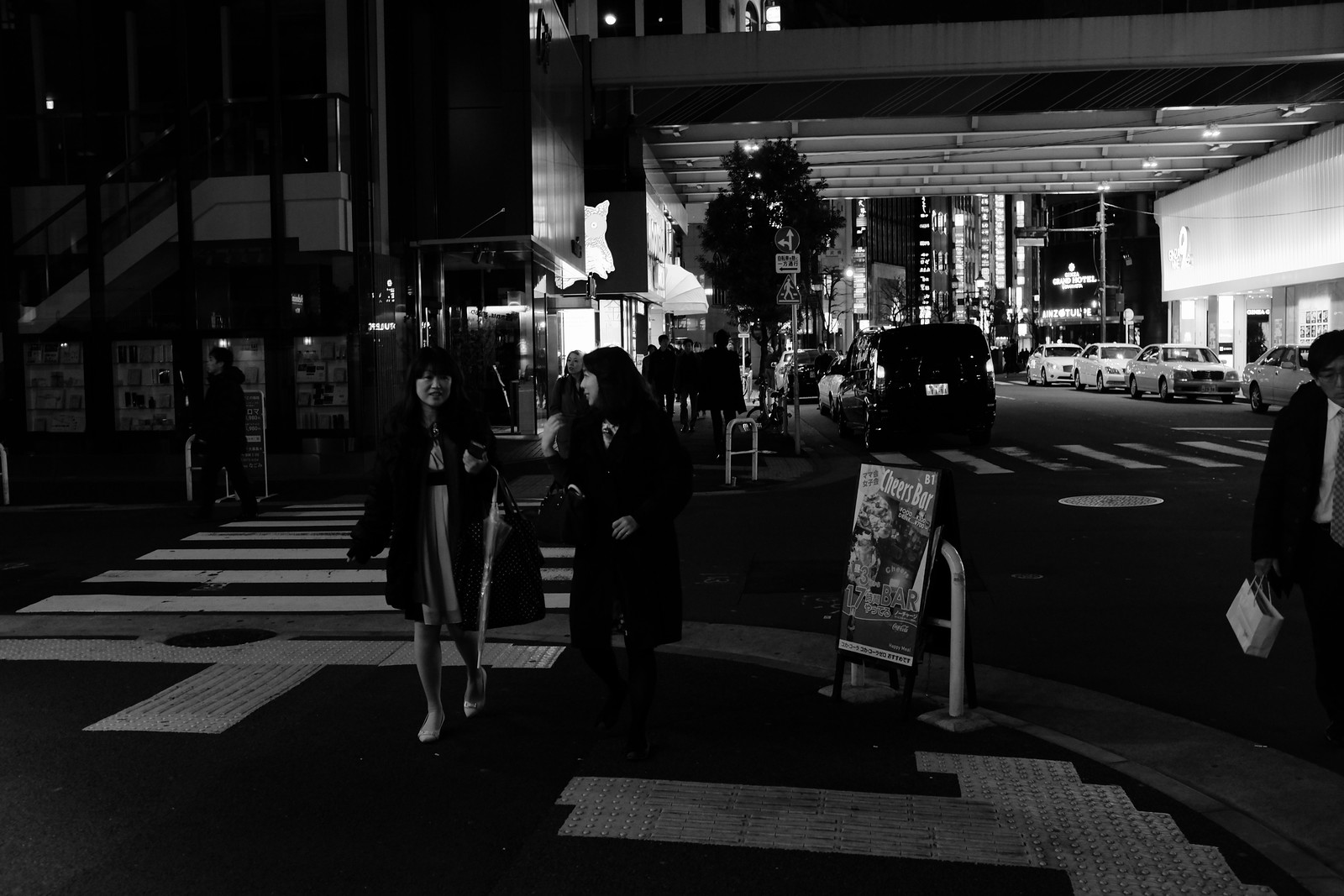 The Ginza Night of Tokyo, Japan.