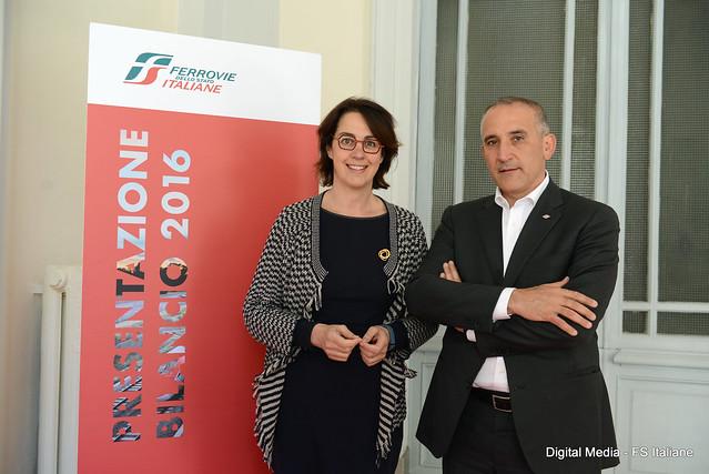 Gioia Ghezzi - Presidente Fs Italiane e Renato Mazzoncini - AD FS Italiane