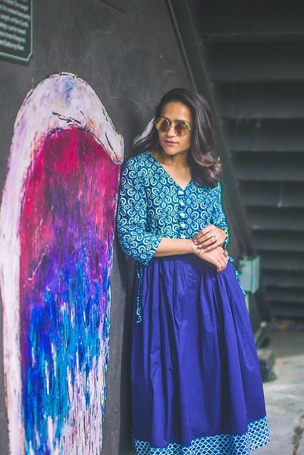 Indigo Summer Dress Tanvii.com