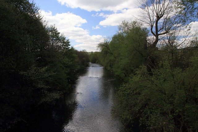 View of the river Aire looking to Shipley