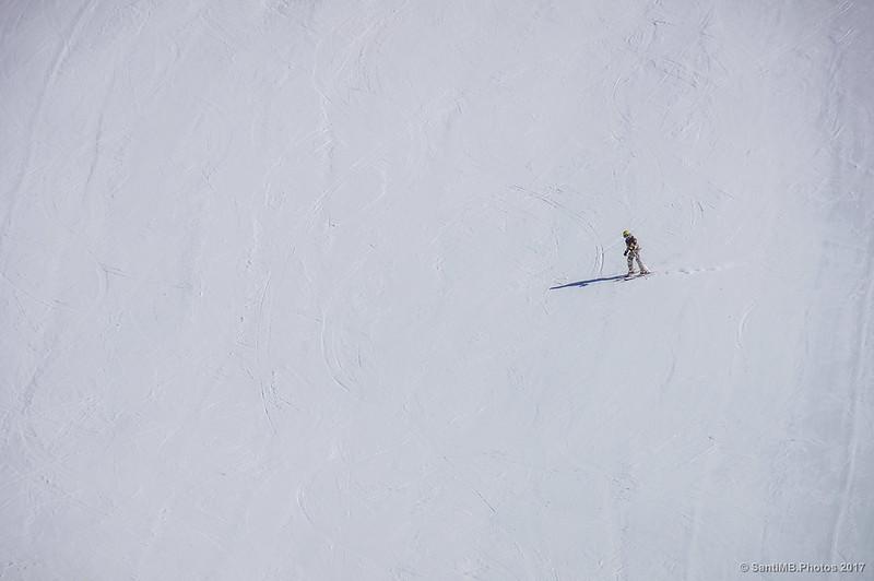 Esquiador en Núria