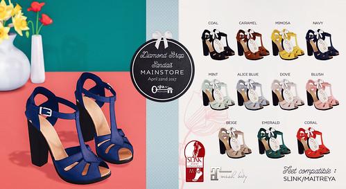 Diamond Strap Sandals