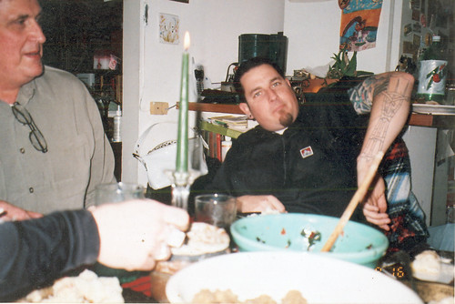 circa 2005 - Thanksgiving Toni's (2) with Sutro Tower Tattoo | by Dennis Brumm