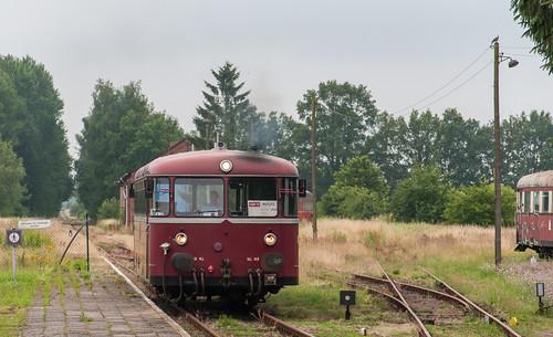 Nach der Ankunft in Putlitz wird zurückgesetzt, um das Kühlwasser nachzufüllen.