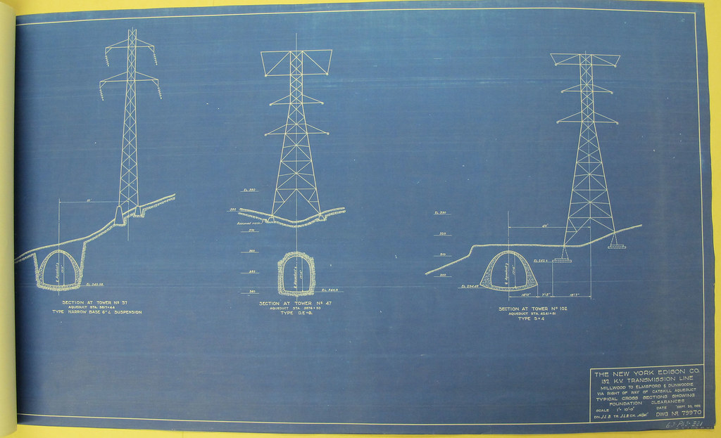 Electricity pylon blueprint for catskill aqueduct line flickr electricity pylon blueprint for catskill aqueduct line by nyc water malvernweather Image collections