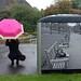 woman with pink umbrella: Edinburgh 2013