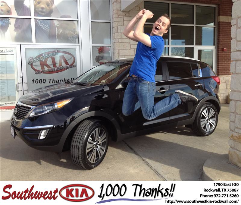 Thank You To Clinton Hansen On Your New 2014 Kia Sportag