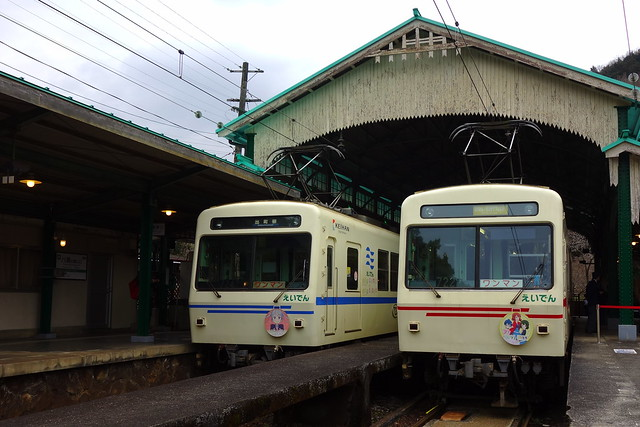 2017/02 叡山電車×きんいろモザイクPretty Days ラッピング車両 #14