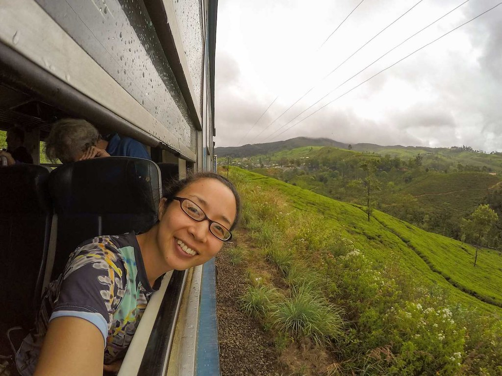 On a train from Ella to Kandy in Sri Lanka