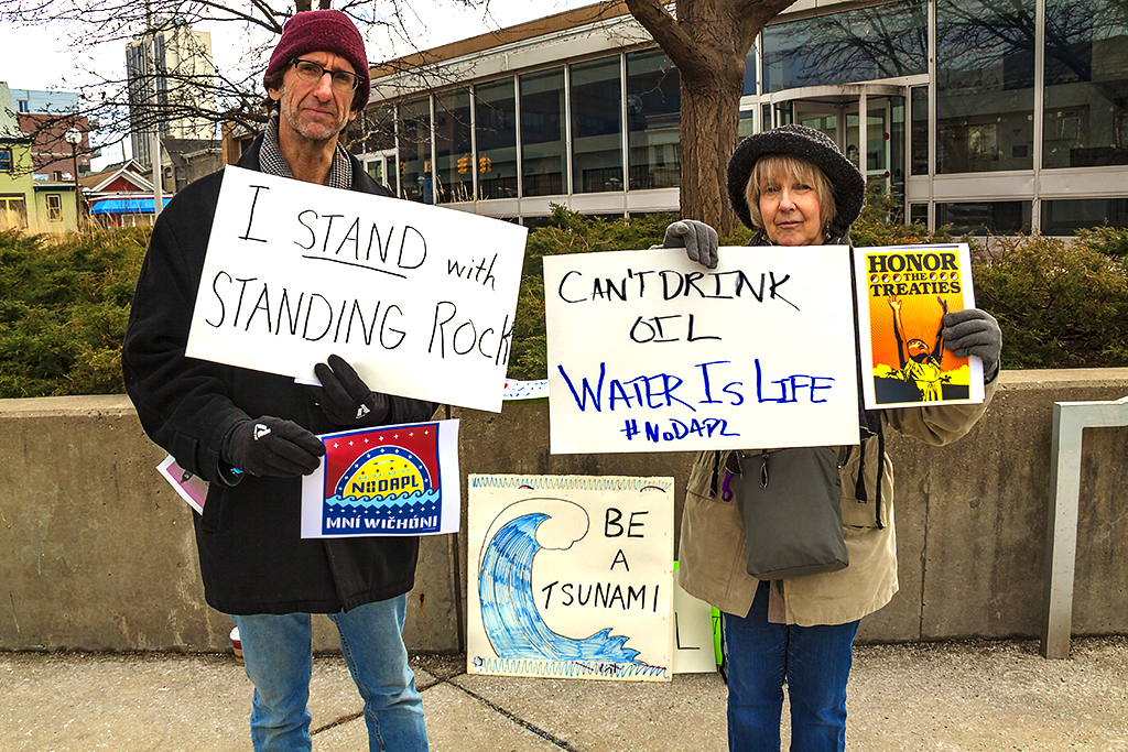 I STAND with STANDING ROCK--Ann Arbor
