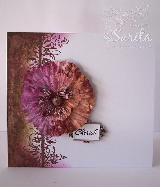 Distress ink border handmade card