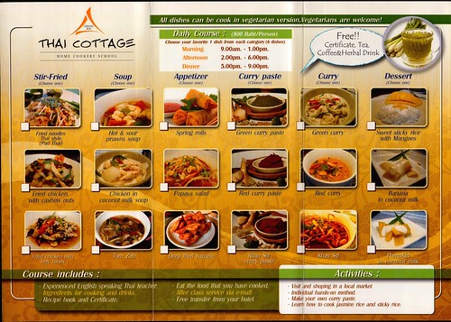 Brochure Thai Cottage Home Cookery School Chiang Mai Thailand 2