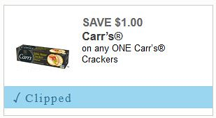Carr's Crackers Coupon