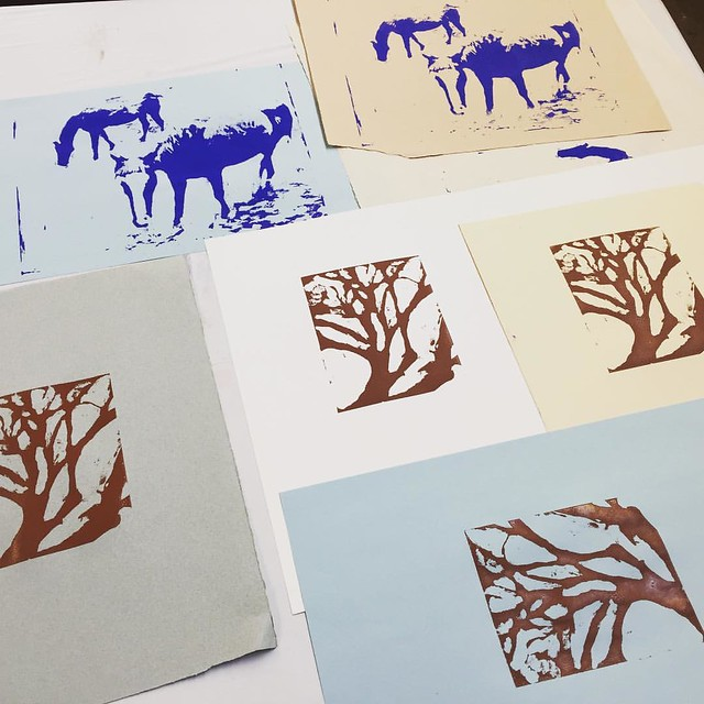 Student work - Screenprinting Workshop