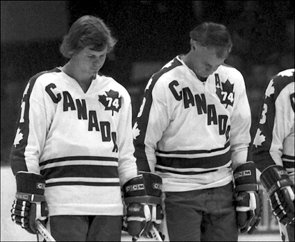 Mark and Gordie Howe 1974 Summit Series