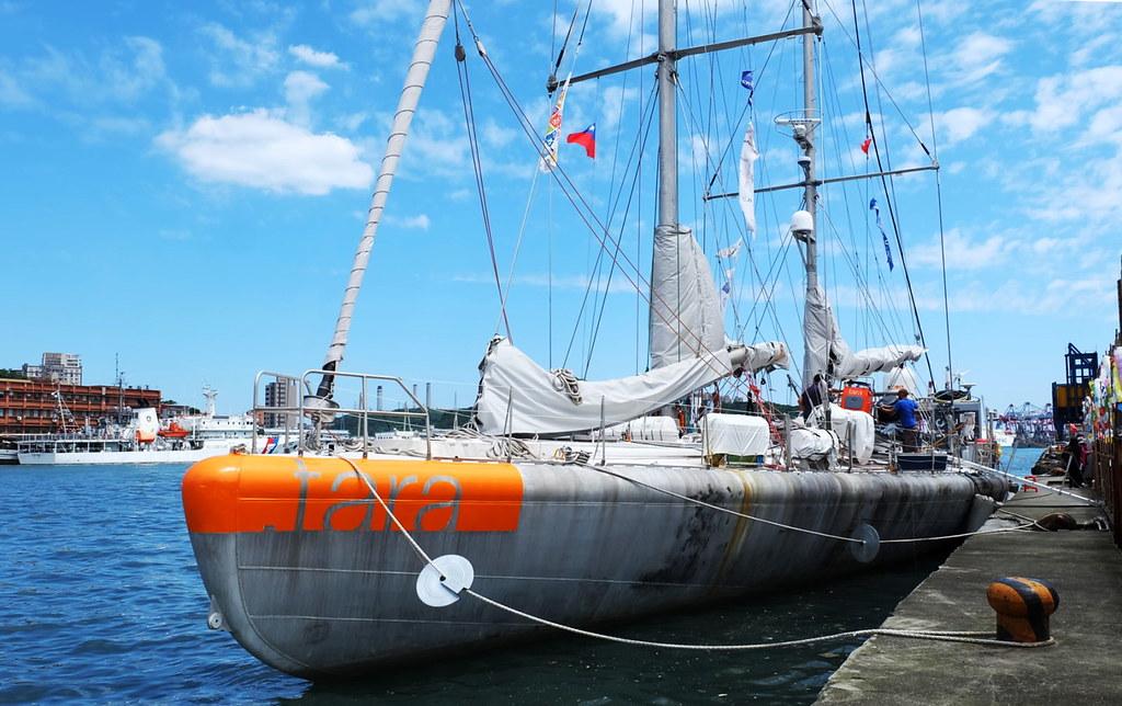 學海洋研究調查船-Tara探險船進行太平洋研究任務途中停留基隆。攝影:陳文姿