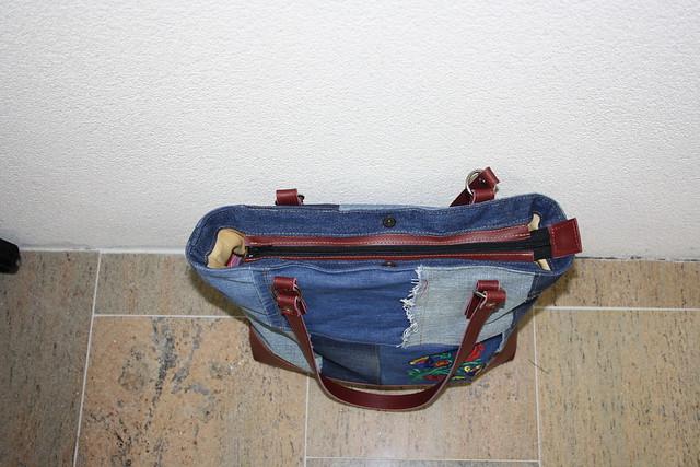 handgemaakte tas van een spijkerbroek