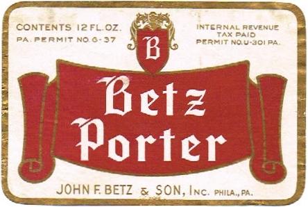 Betz-Porter--Labels-John-F-Betz--Son