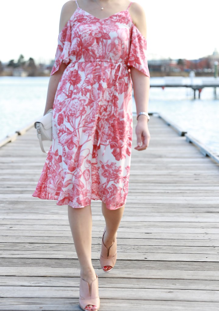 LOFT Botanic Cold Shoulder Dress, size XXSP