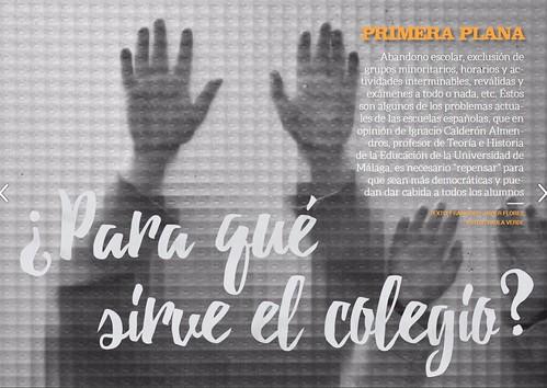 ¿Para qué sirve el colegio? Entrevista realizada a Ignacio Calderón Almendros.